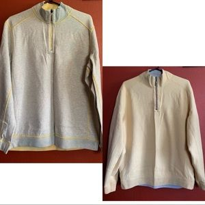 Tommy Bahama Reversible Half-Zip Knit Pullover M